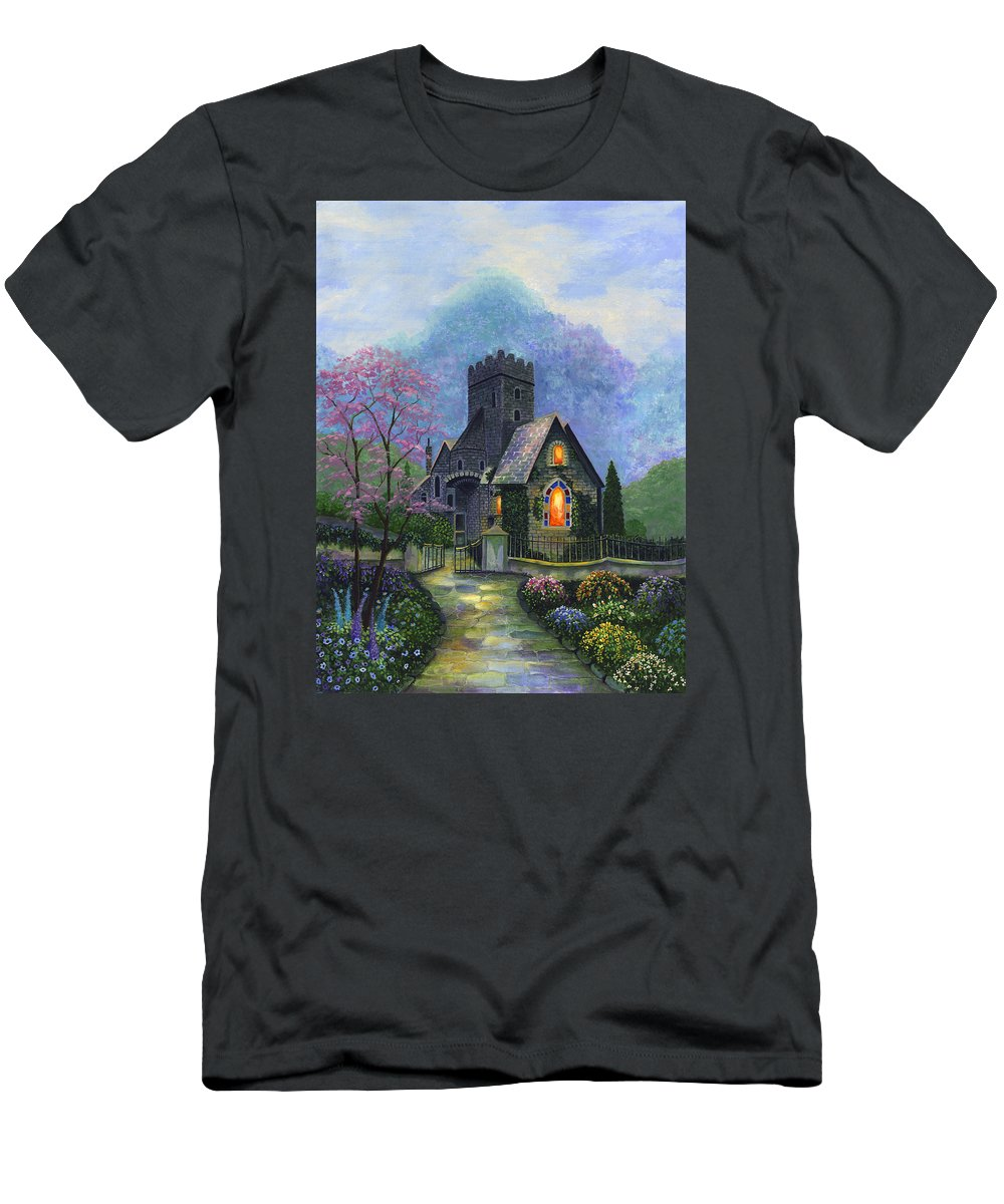 Church Men's T-Shirt (Athletic Fit) featuring the painting King's Garden by Bonnie Cook