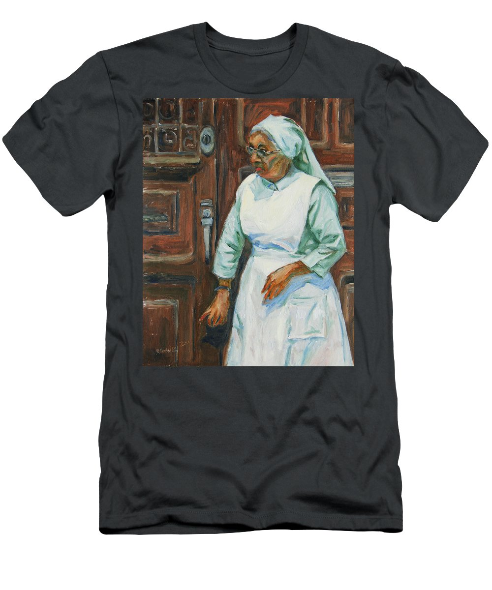 Sister Men's T-Shirt (Athletic Fit) featuring the painting Knocking On Heaven's Door by Xueling Zou