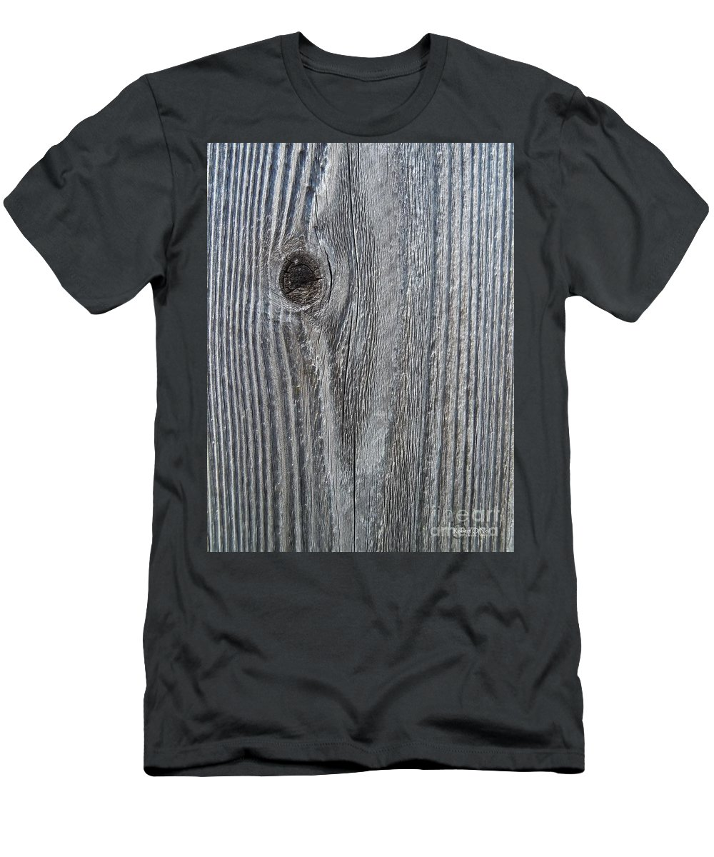 Knot Men's T-Shirt (Athletic Fit) featuring the photograph Knotty Plank #3a by Robert ONeil