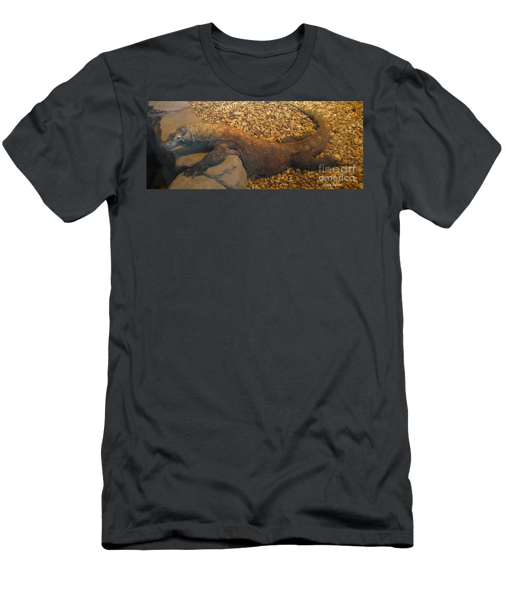 Art For The Wall...patzer Photography Men's T-Shirt (Athletic Fit) featuring the photograph Komodo by Greg Patzer
