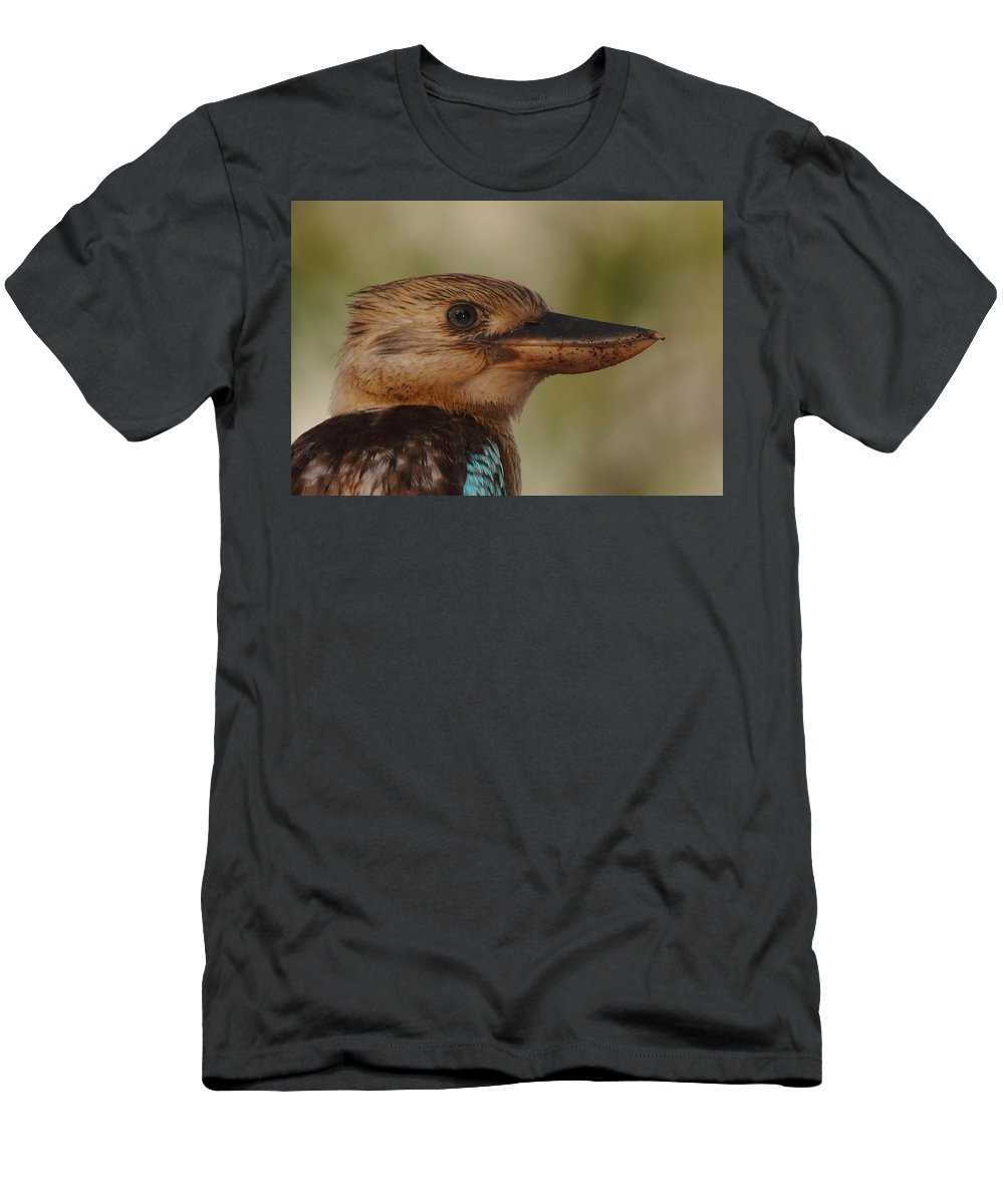 Kookaburra Men's T-Shirt (Athletic Fit) featuring the photograph Kookaburra Portrait by Bruce J Robinson