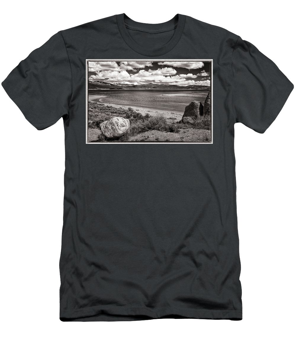 Granby Men's T-Shirt (Athletic Fit) featuring the photograph Lake Granby by Joan Carroll