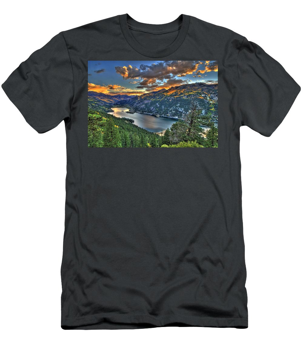 Mountain Men's T-Shirt (Athletic Fit) featuring the photograph Lake Of Dreams by Scott Mahon