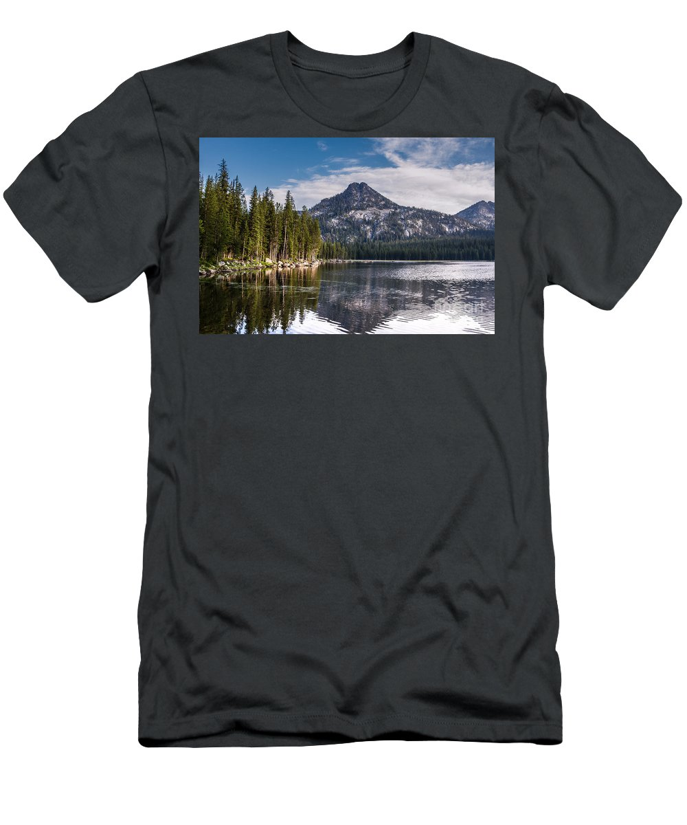 Anthony Lake Men's T-Shirt (Athletic Fit) featuring the photograph Lake Reflection by Robert Bales