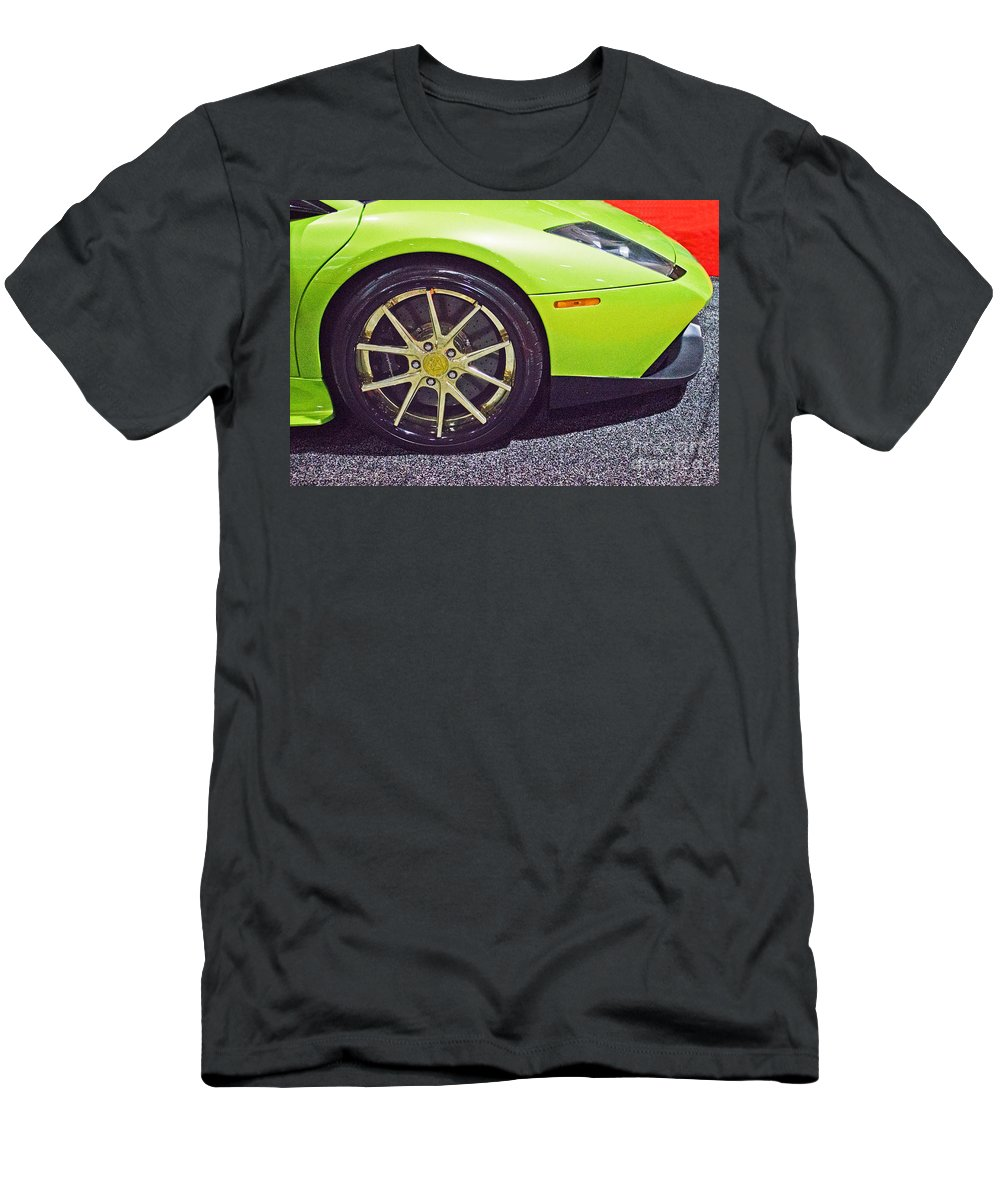 Luxury Men's T-Shirt (Athletic Fit) featuring the photograph Lamborghini Verde by Tom Gari Gallery-Three-Photography