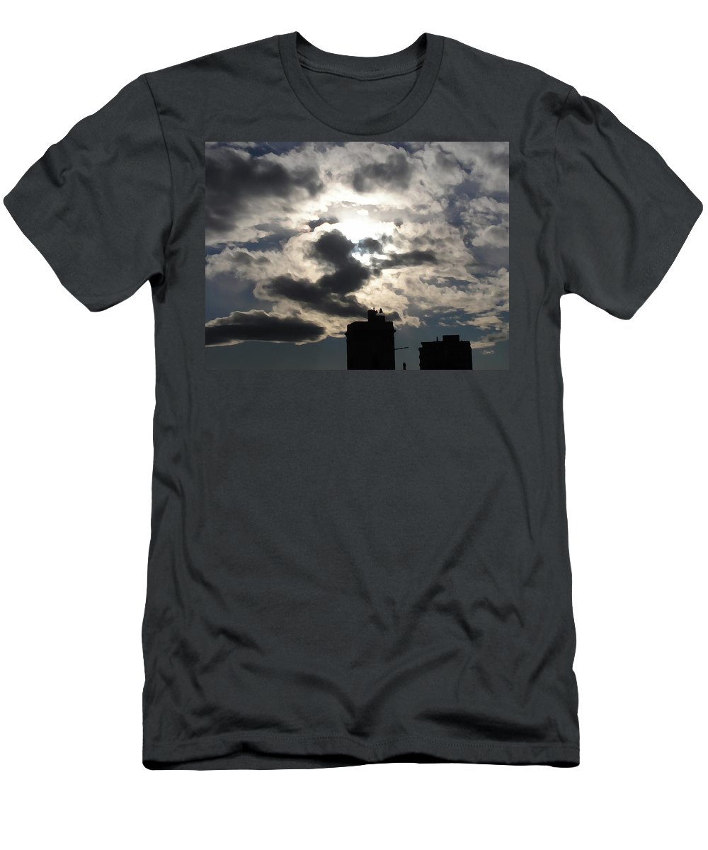 Lanciano Men's T-Shirt (Athletic Fit) featuring the photograph Lanciano-campanile by Marcello Cicchini