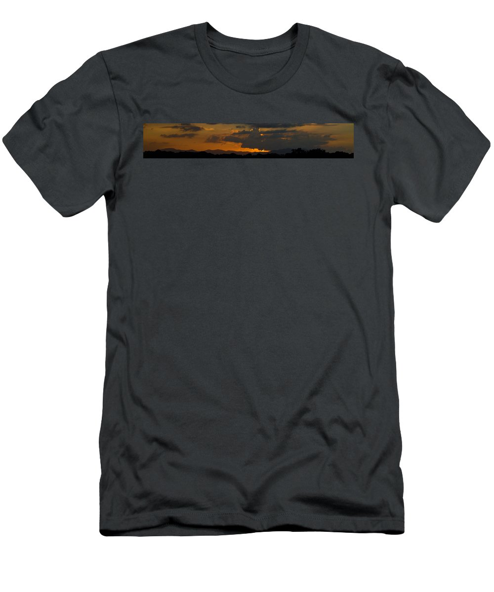 Sky Men's T-Shirt (Athletic Fit) featuring the photograph Landscape 3 Of 3 by Agustin Uzarraga