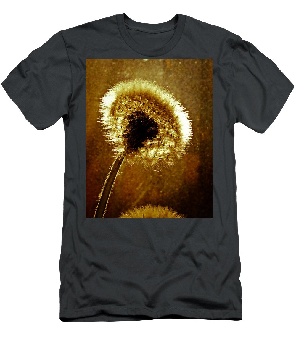 Flowers Men's T-Shirt (Athletic Fit) featuring the photograph Last Light Of Day by Bob Orsillo