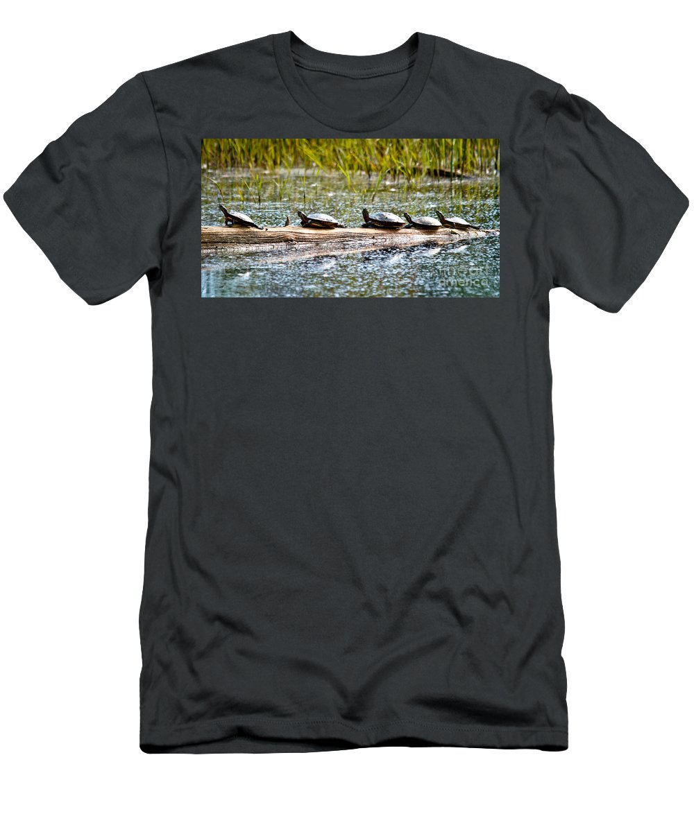 Men's T-Shirt (Athletic Fit) featuring the photograph Last Sun Tan by Cheryl Baxter