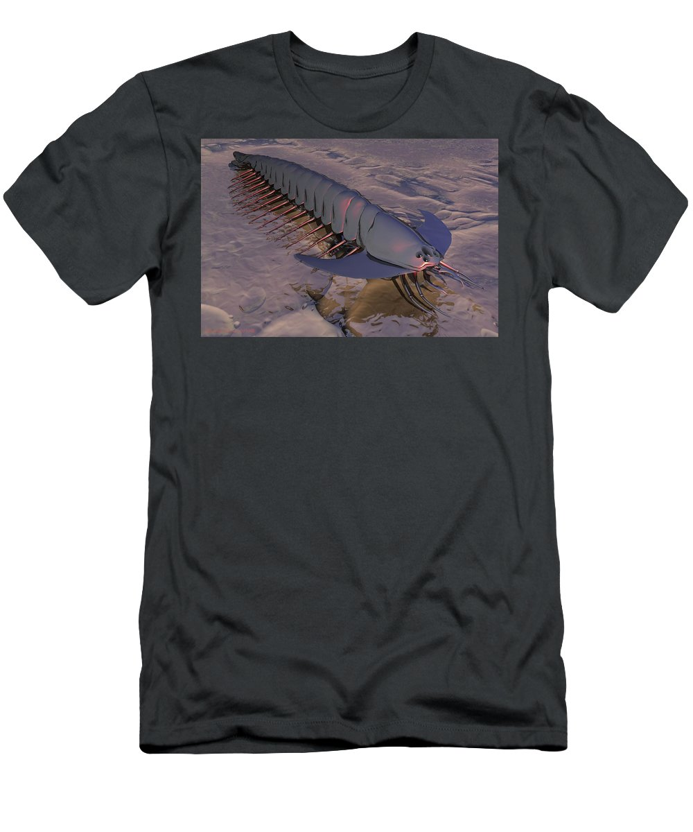 Latch Worm Men's T-Shirt (Athletic Fit) featuring the digital art Latchworm by Michael Wimer