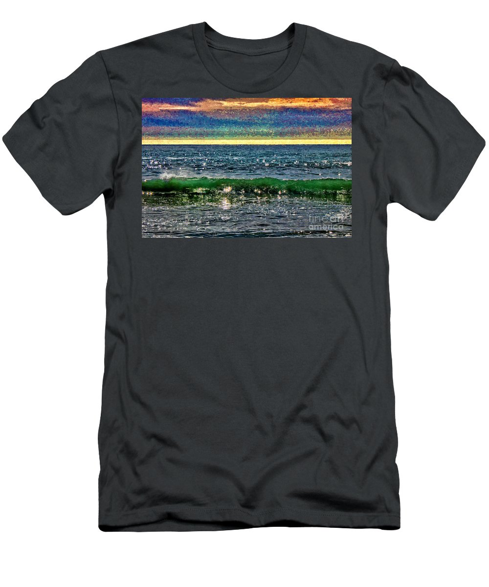 Ocean Men's T-Shirt (Athletic Fit) featuring the photograph Late Afternoon Ocean by Stefan H Unger