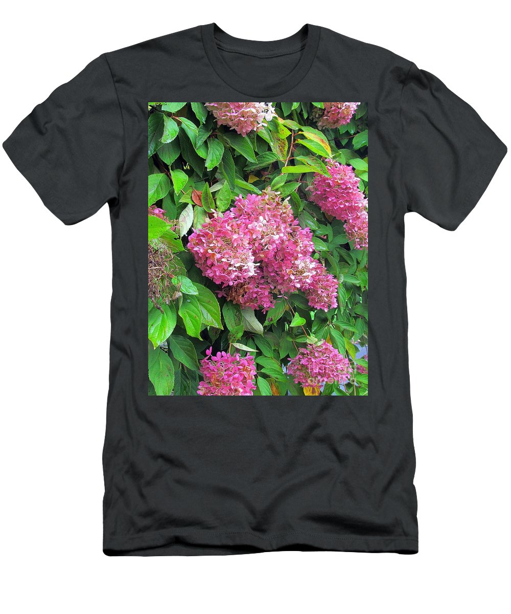 Hydrangea Men's T-Shirt (Athletic Fit) featuring the photograph Late Hydrangea Flower by Elizabeth Dow