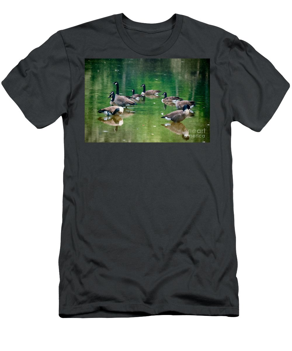 Late Men's T-Shirt (Athletic Fit) featuring the photograph Late Summer Gathering by Scott Hervieux