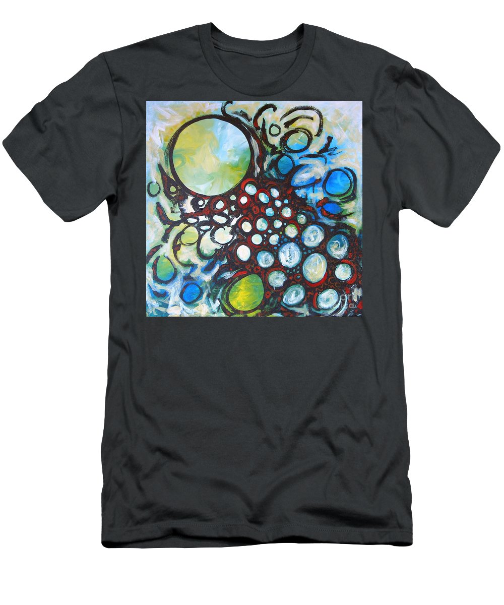 Dot Men's T-Shirt (Athletic Fit) featuring the painting Lava Lamp Studio No.1 by Tonya Henderson