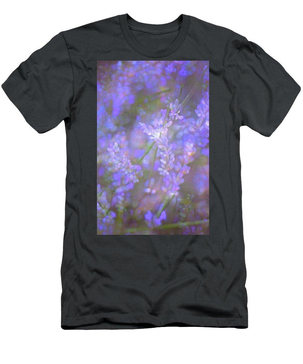 Floral Men's T-Shirt (Athletic Fit) featuring the photograph Lavender 5 by Pamela Cooper