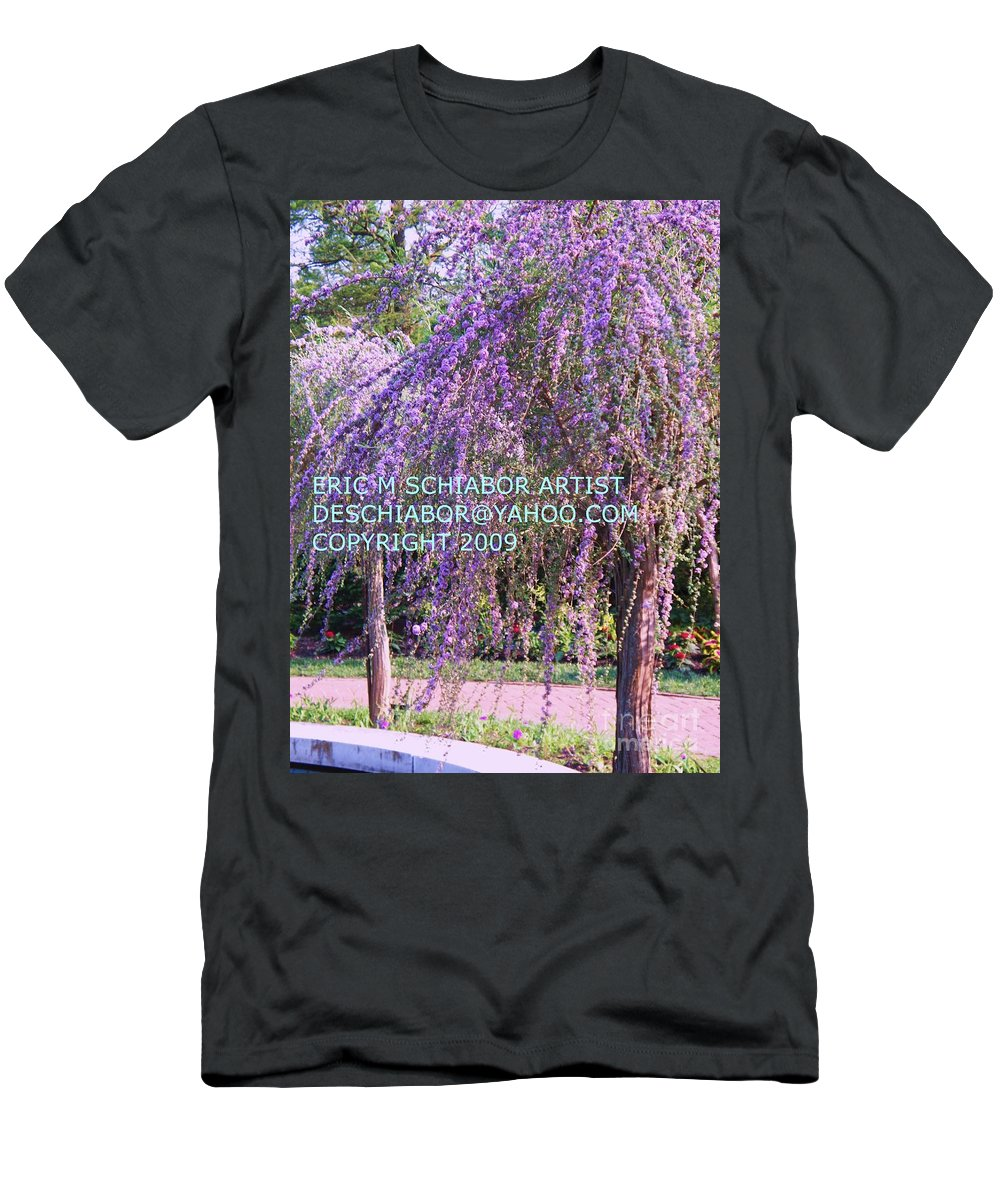 Butterfly Bush Men's T-Shirt (Athletic Fit) featuring the photograph Lavender Butterfly Bush by Eric Schiabor
