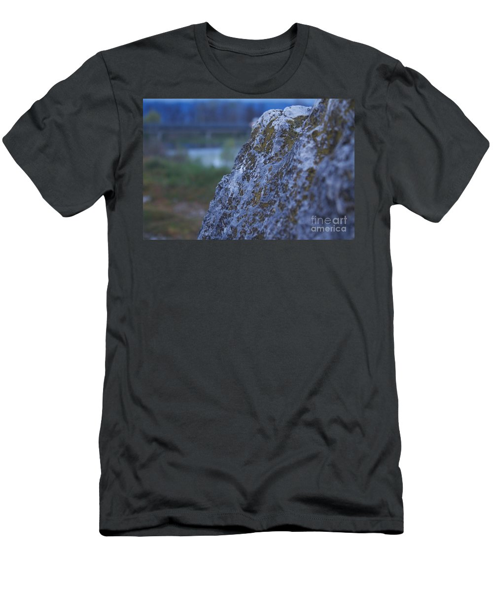 Rock Men's T-Shirt (Athletic Fit) featuring the photograph Lay On My Hidden Rock by Donato Iannuzzi