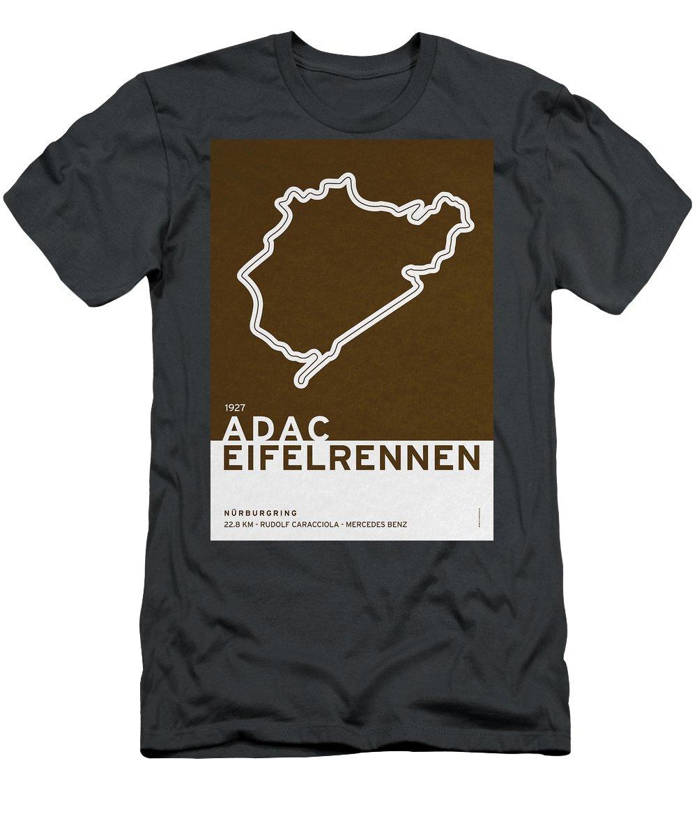F1 Men's T-Shirt (Athletic Fit) featuring the digital art Legendary Races - 1927 Eifelrennen by Chungkong Art