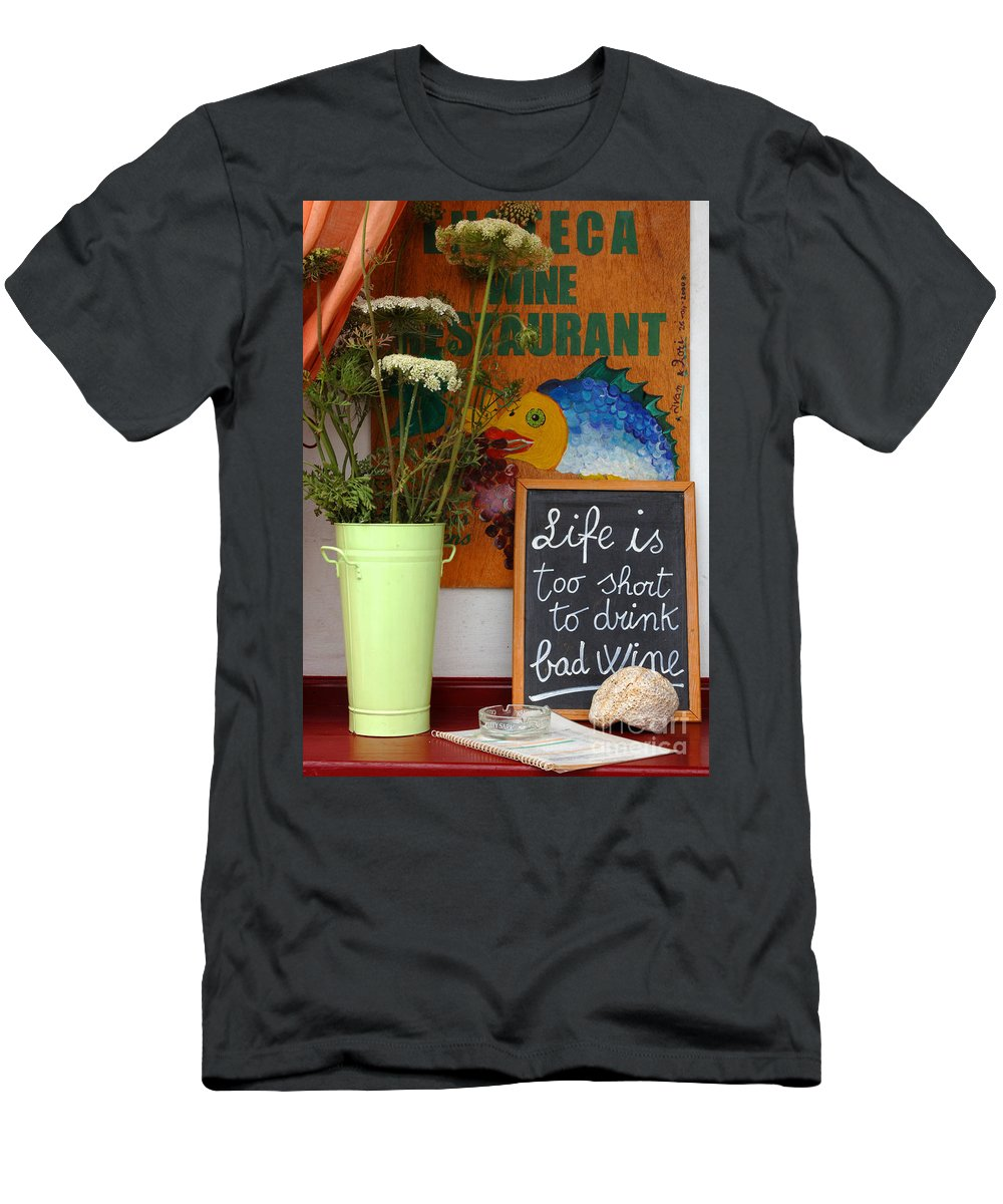 Greece Men's T-Shirt (Athletic Fit) featuring the photograph Life Is Too Short by Bob Christopher