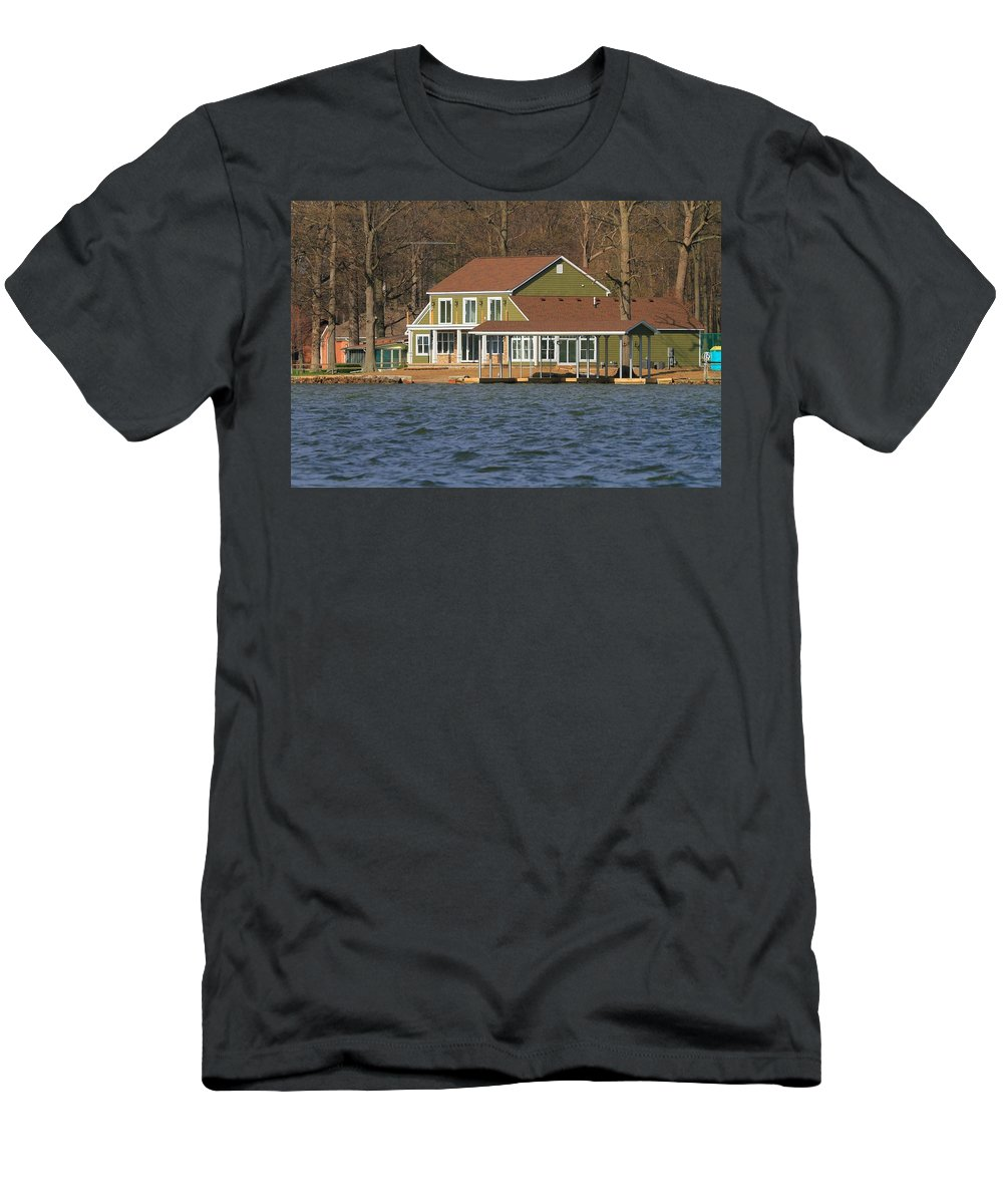 Life On Indian Lake Ohio Men's T-Shirt (Athletic Fit) featuring the photograph Life On Indian Lake Ohio by Dan Sproul