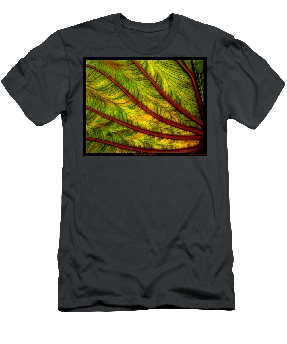 Abstract Men's T-Shirt (Athletic Fit) featuring the photograph Lifepulse by Gene Tatroe