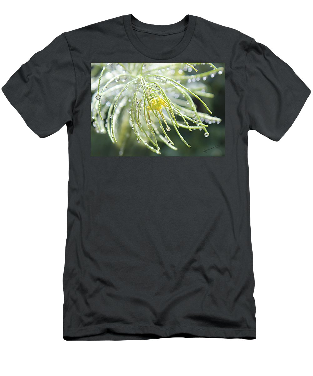 Water Drops Men's T-Shirt (Athletic Fit) featuring the photograph Light Catchers by Kume Bryant