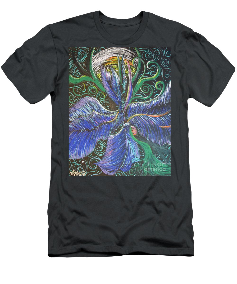 Impressionism Men's T-Shirt (Athletic Fit) featuring the painting Light Into The Bloom by Stefan Duncan