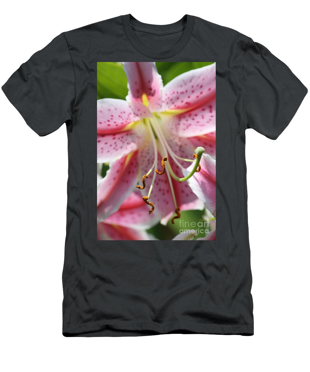 Lily Men's T-Shirt (Athletic Fit) featuring the photograph Lily Love by Christina Gupfinger