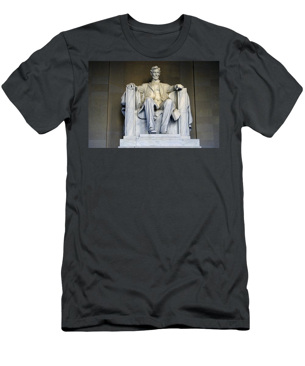 Abraham Lincoln Men's T-Shirt (Athletic Fit) featuring the photograph Lincoln by Pablo Rosales