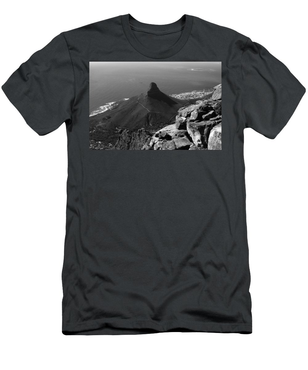 Africa Men's T-Shirt (Athletic Fit) featuring the photograph Lions Head - Cape Town - South Africa by Aidan Moran