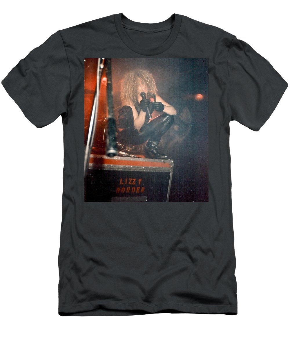 Lizzy Borden Men's T-Shirt (Athletic Fit) featuring the photograph Lizzy Borden by Sheryl Chapman Photography