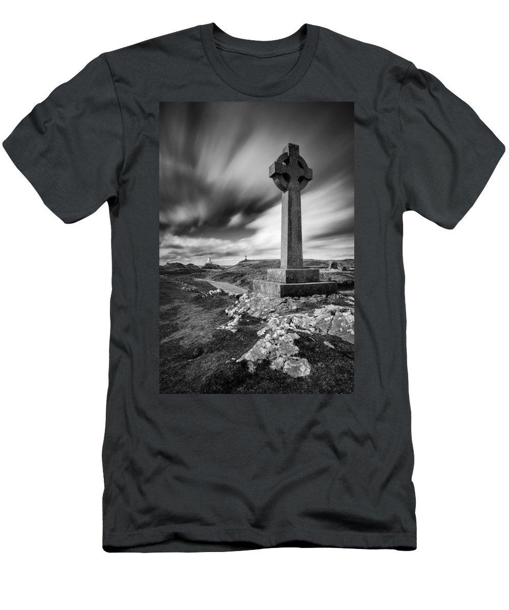 Llanddwyn Island Men's T-Shirt (Athletic Fit) featuring the photograph Llanddwyn Island by Dave Bowman