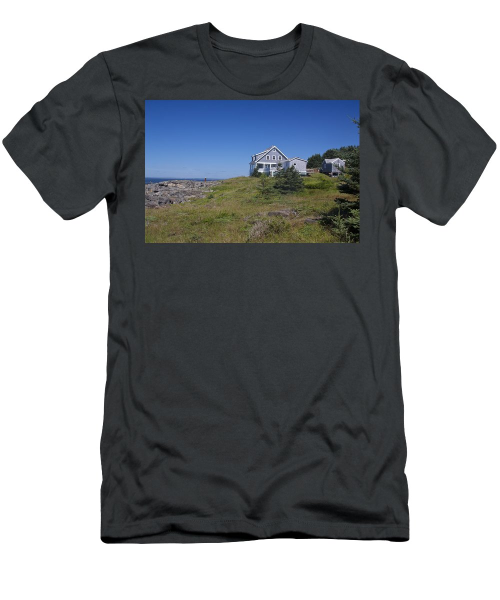Lobster Men's T-Shirt (Athletic Fit) featuring the photograph Lobster Cove by Jean Macaluso