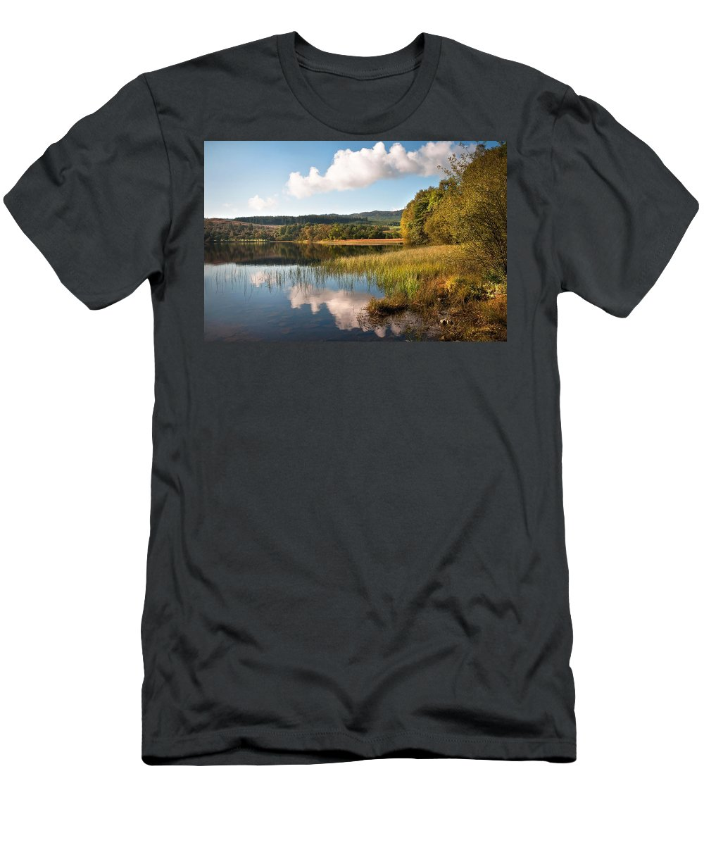 Scotland Men's T-Shirt (Athletic Fit) featuring the photograph Loch Achray. Trossachs. Scotland by Jenny Rainbow
