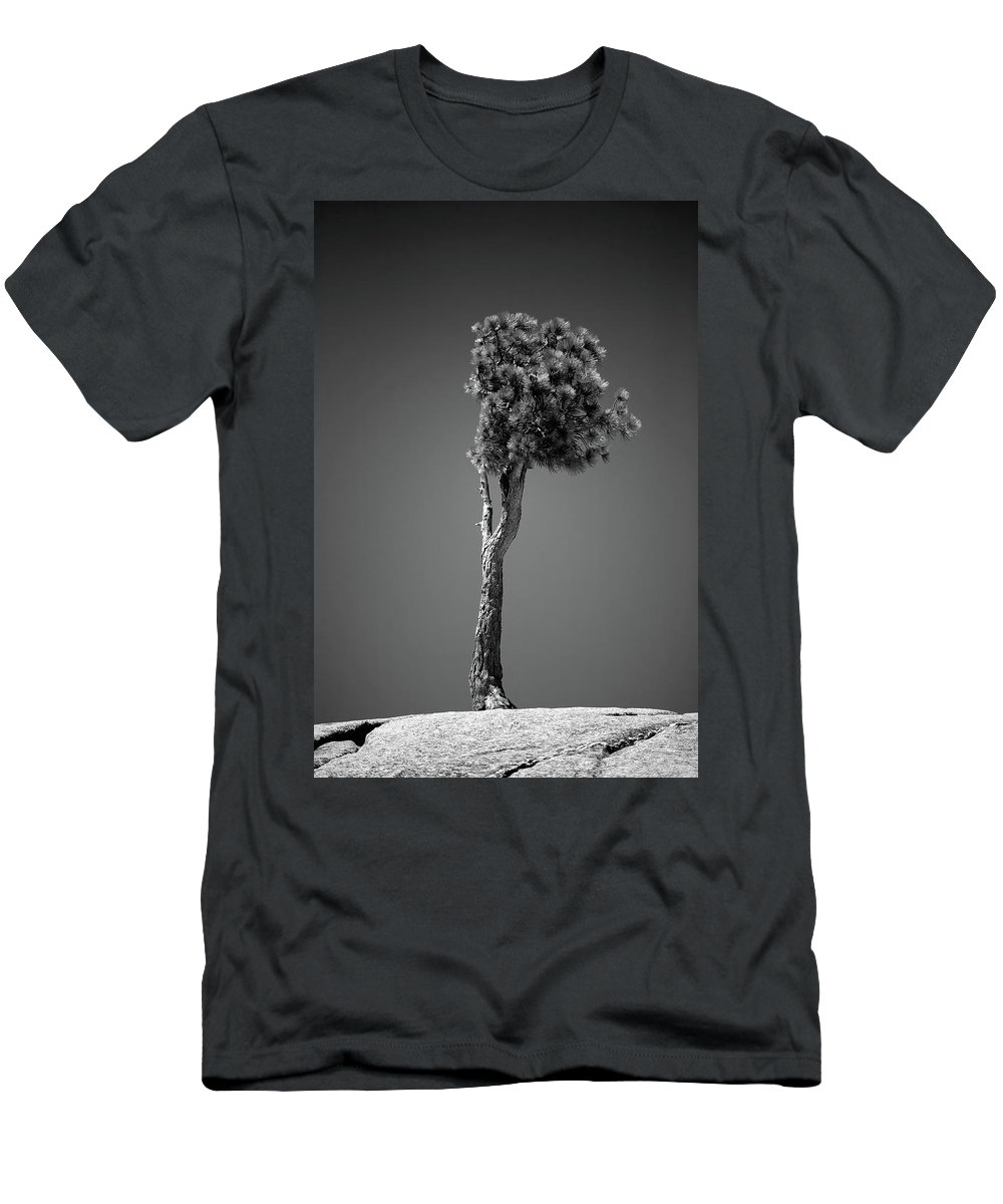 Black & White Men's T-Shirt (Athletic Fit) featuring the photograph Lone Pine II by Peter Tellone