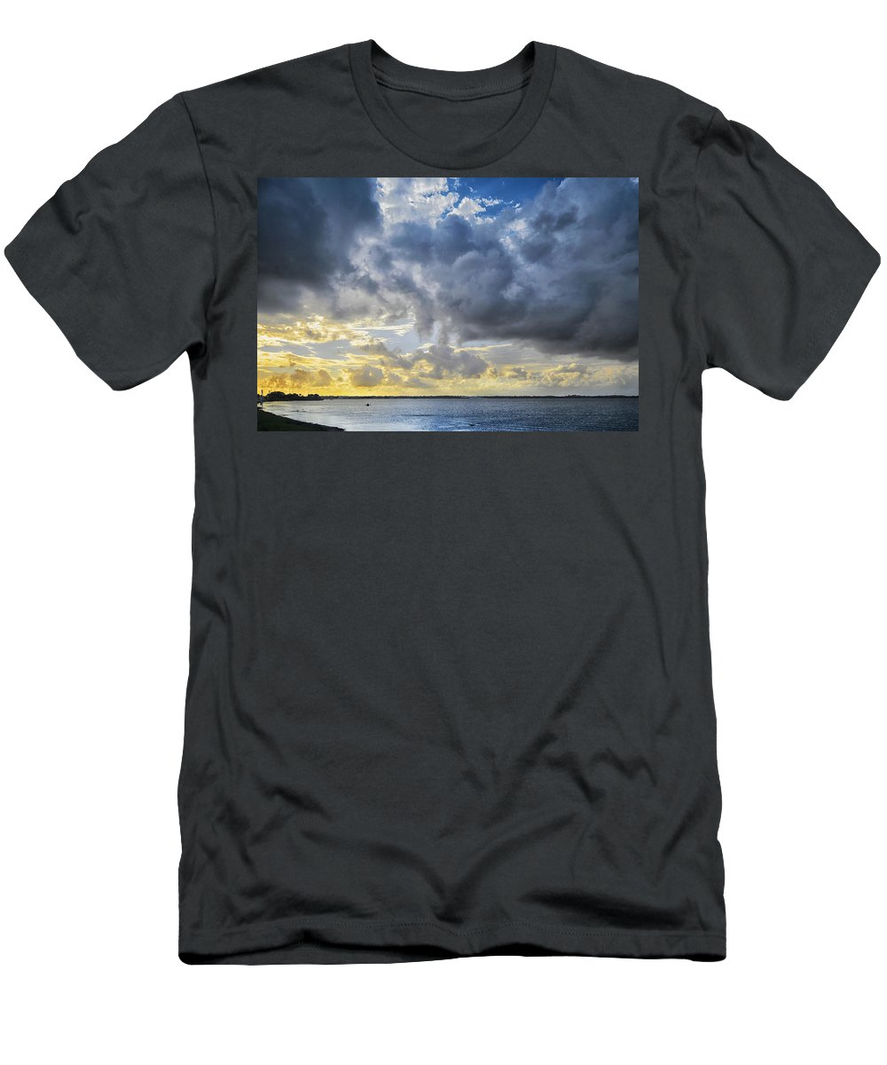 Kayak Men's T-Shirt (Athletic Fit) featuring the photograph Lonely Kayak by Louise Hill