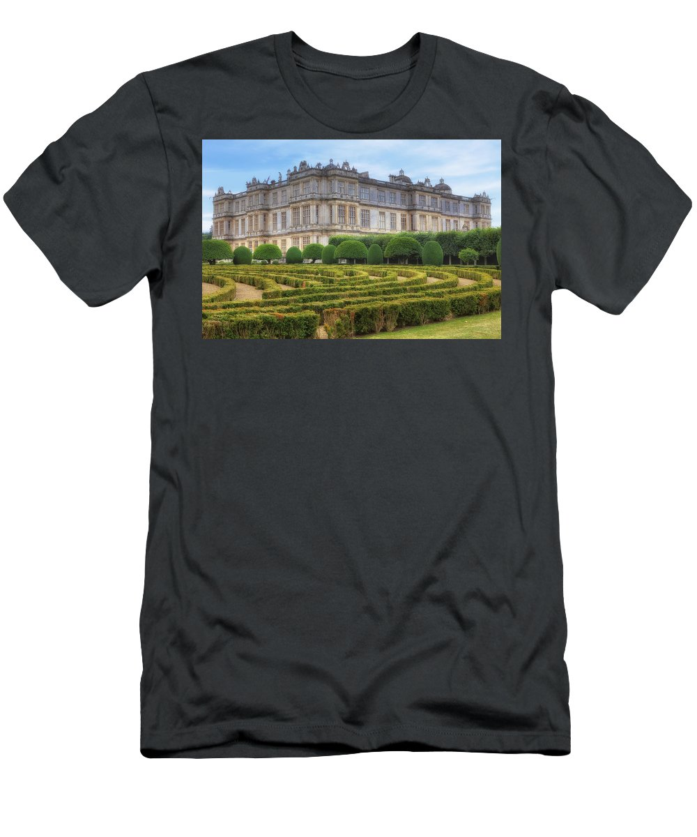 Longleat House Men's T-Shirt (Athletic Fit) featuring the photograph Longleat House - Wiltshire by Joana Kruse