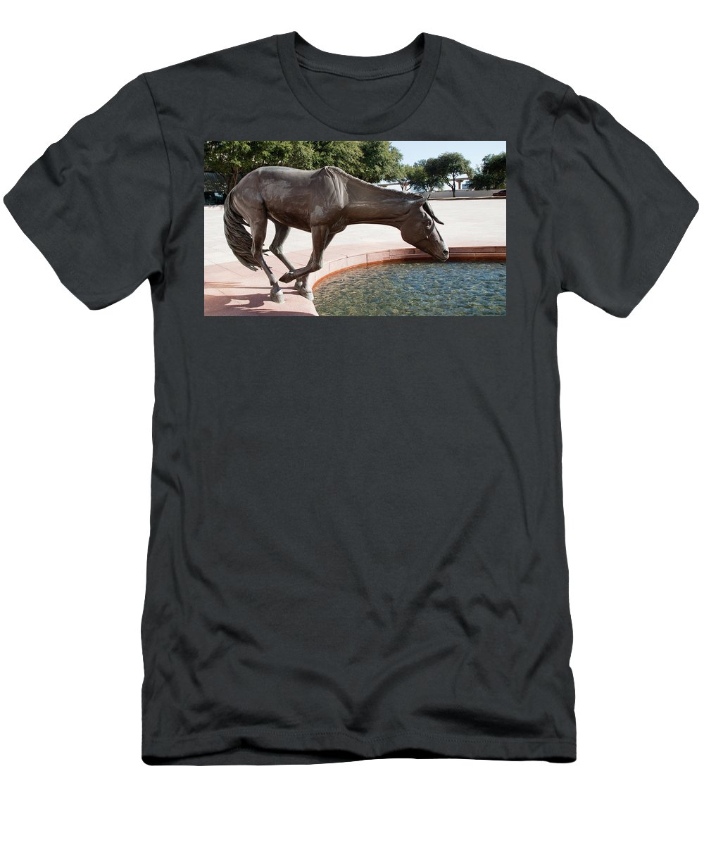 Sculptures Men's T-Shirt (Athletic Fit) featuring the photograph Los Colinas Mustangs 14687 by Guy Whiteley