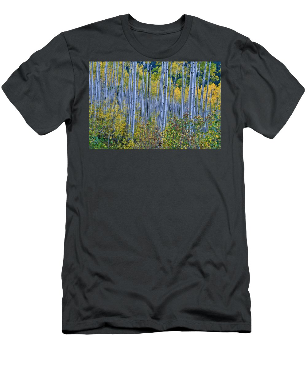 Aspen Grove Men's T-Shirt (Athletic Fit) featuring the photograph Lost In The Crowd by Jeremy Rhoades