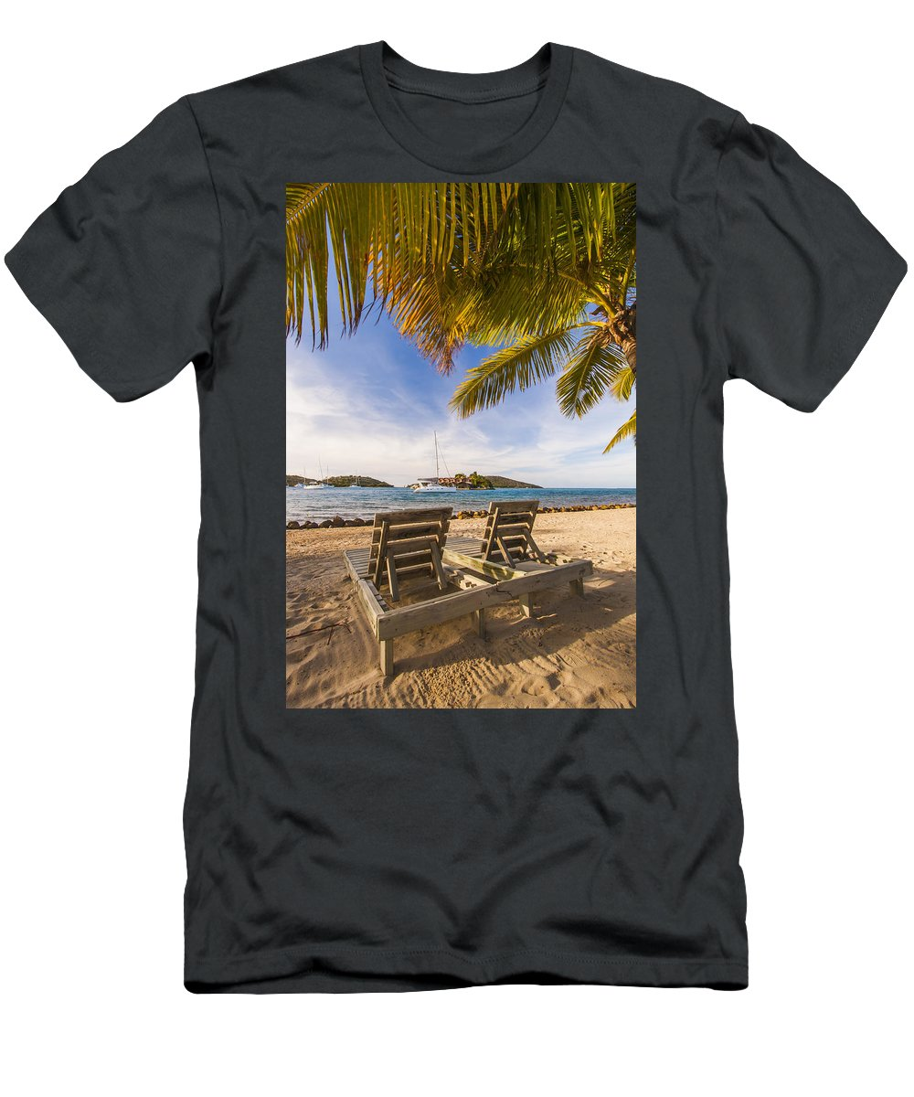 3scape Photos Men's T-Shirt (Athletic Fit) featuring the photograph Lounging At The Bitter End by Adam Romanowicz
