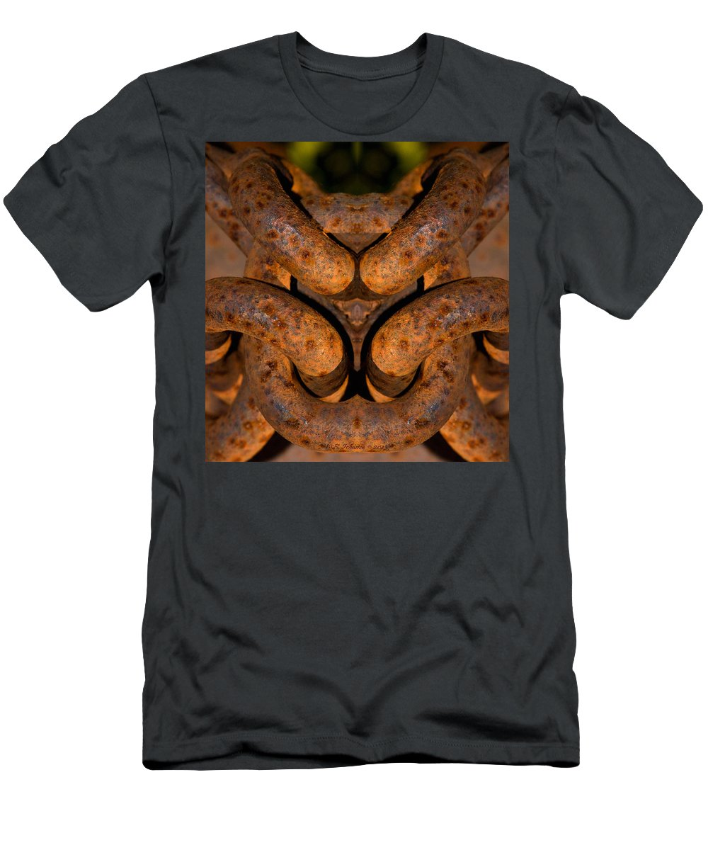 Rust Men's T-Shirt (Athletic Fit) featuring the photograph Loveknot by WB Johnston