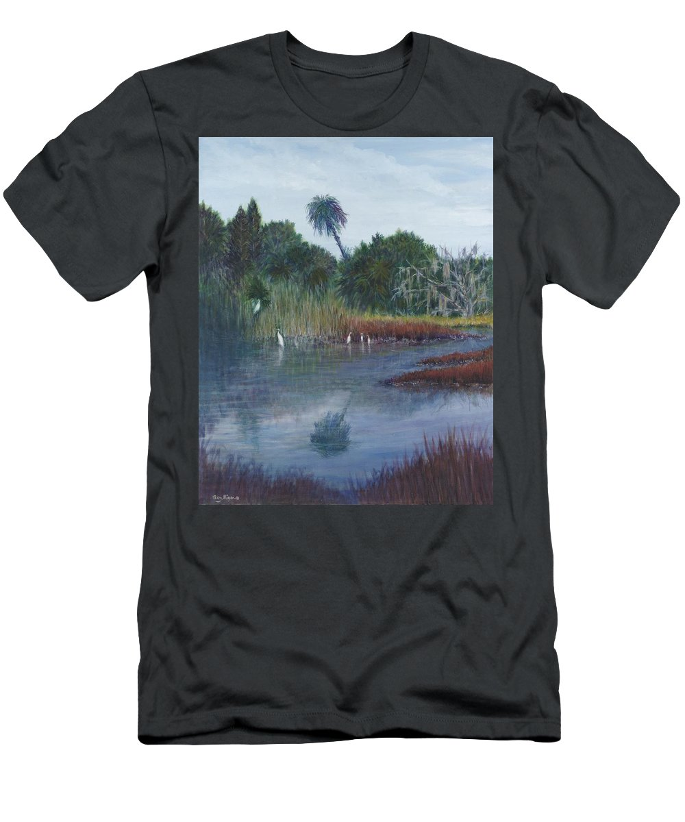 Landscape Men's T-Shirt (Athletic Fit) featuring the painting Low Country Social by Ben Kiger