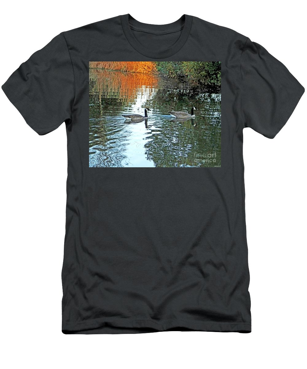 Canadian Geese Men's T-Shirt (Athletic Fit) featuring the digital art Lsu Ag Centers Burden Center Baton Rouge Louisiana by Lizi Beard-Ward