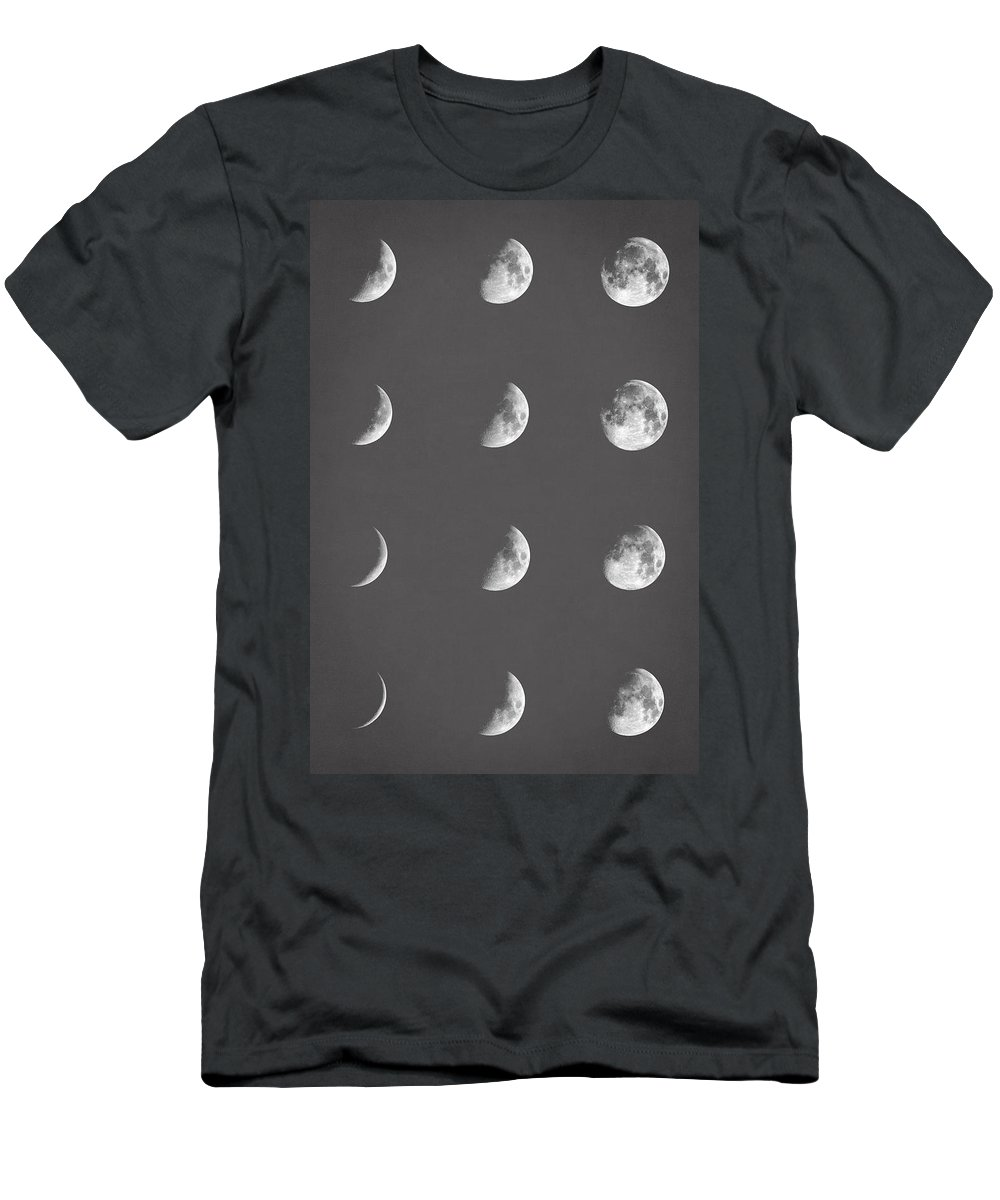 Moon Men's T-Shirt (Athletic Fit) featuring the digital art Lunar Phases by Zapista Zapista