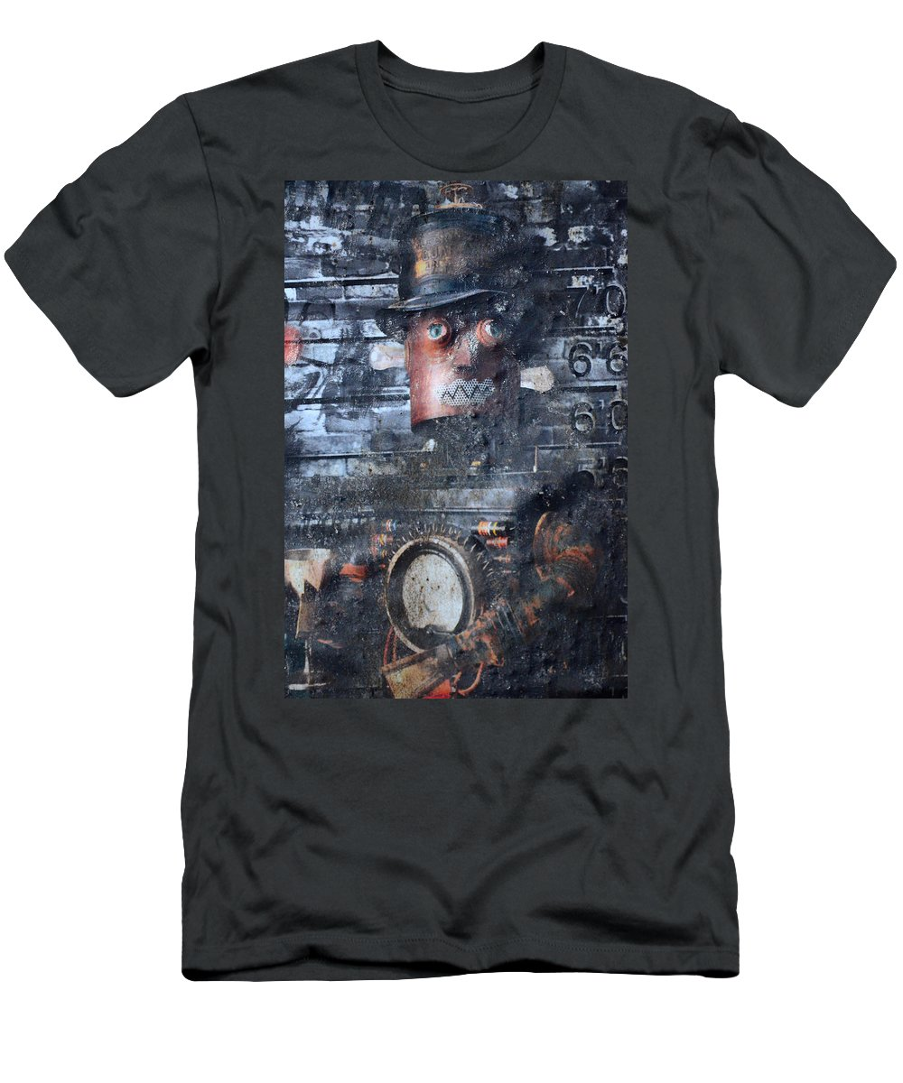 Jerry Cordeiro Men's T-Shirt (Athletic Fit) featuring the photograph Machine In Me by The Artist Project