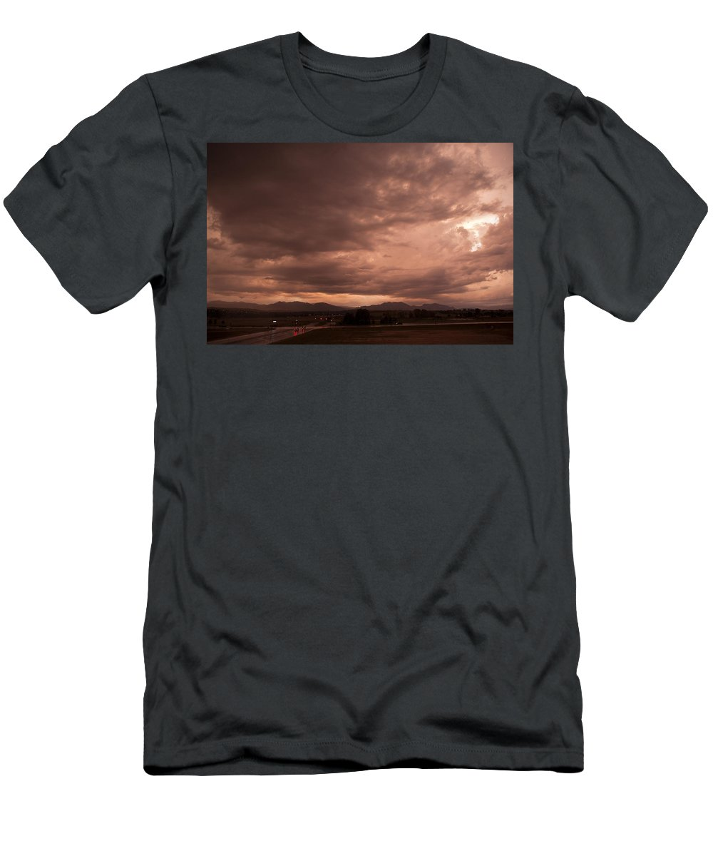 Magenta Men's T-Shirt (Athletic Fit) featuring the photograph Magenta Clouds by Marilyn Hunt