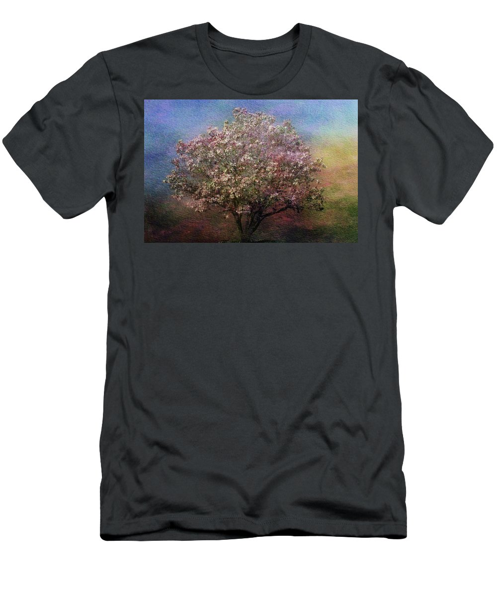 Tree Men's T-Shirt (Athletic Fit) featuring the photograph Magnolia Tree In Bloom by Sandy Keeton
