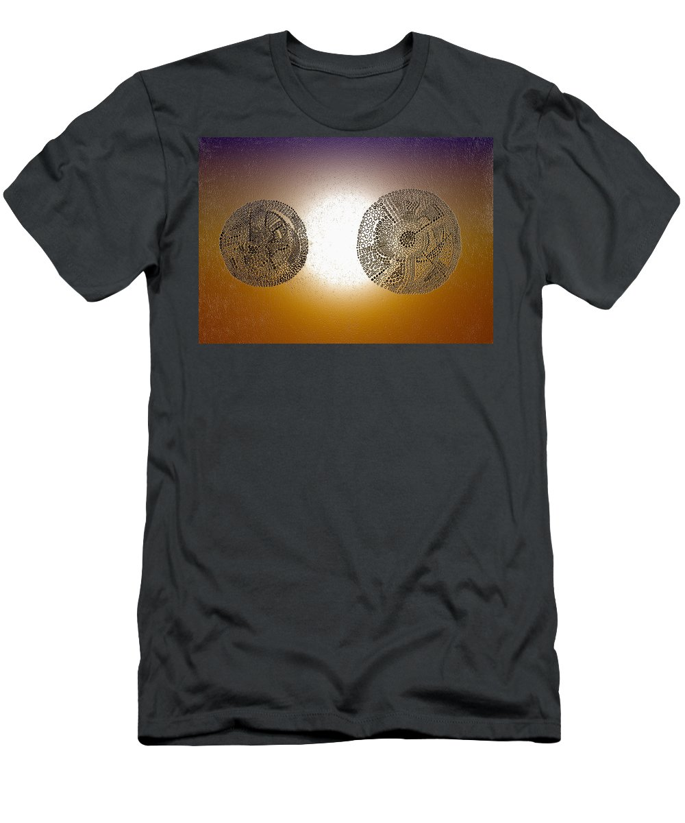 Greeting Cards Men's T-Shirt (Athletic Fit) featuring the digital art Mandalas by Judith Chantler