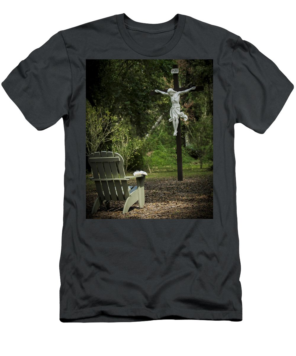 Men's T-Shirt (Athletic Fit) featuring the photograph Manresa I by Tony Tribou