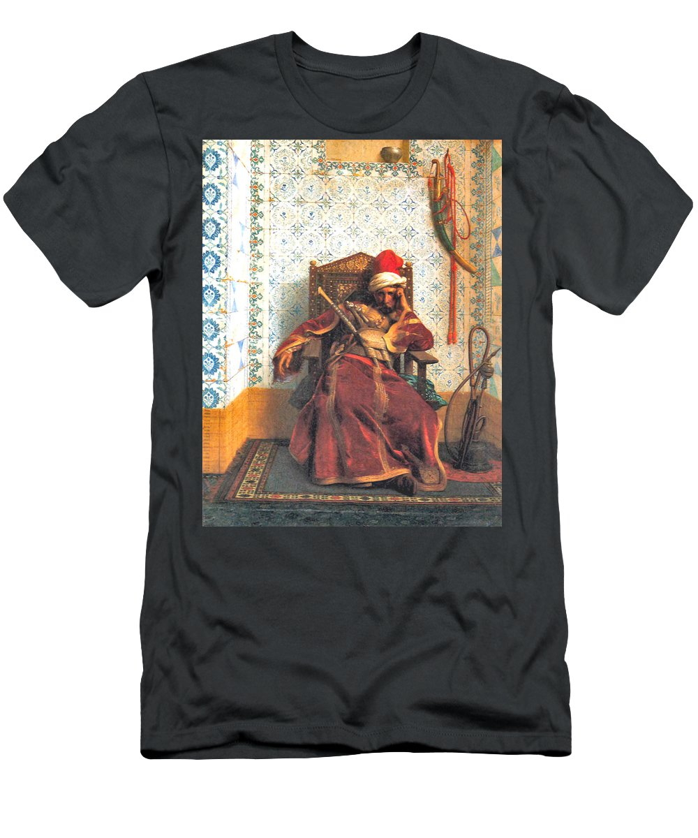 Markos Botsaris Men's T-Shirt (Athletic Fit) featuring the digital art Markos Botsaris by Jean Leon Gerome